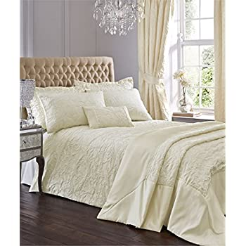 Cream Jacquard Super King Quilt Duvet Cover & 2 Pillowcase Bedding Bed Set Traditional New ...