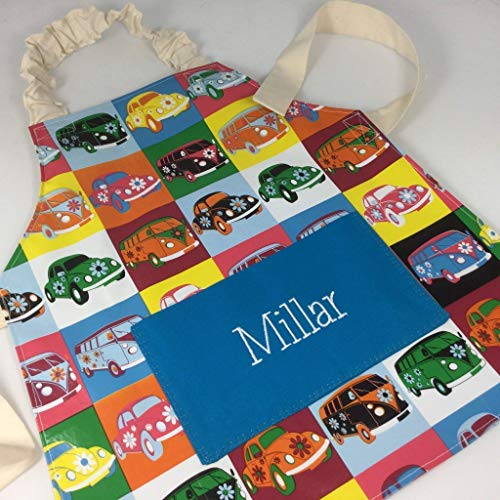 Babahoot Kids PVC Aprons Handmade Wipeable Plastic Apron For Adults and Kids With Optional Named Pocket