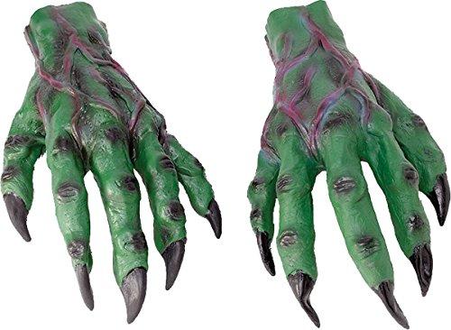 Erwachsene Unheimlich Halloween Party Kostüm Devil Monster Kostüm Horror Weihnachten Hände - Grün, Einheitsgröße