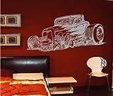 Zertifikato Wandtattoo Wandbild #30 Auto Car USA ver. Größen und Farben