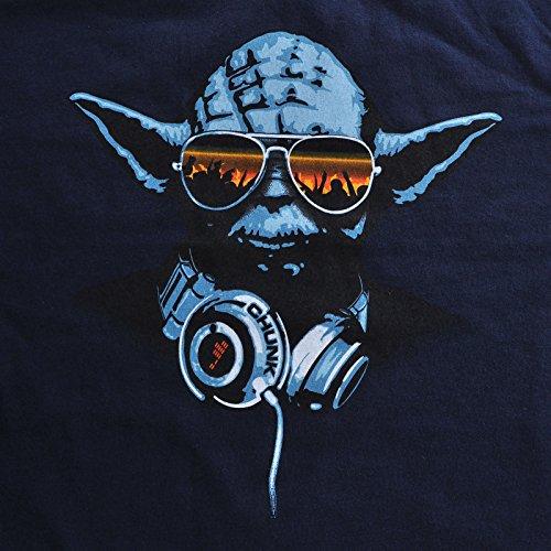 Star Wars DJ Yoda T-Shirt, Marken Streetwear, mit Logoflag Blau