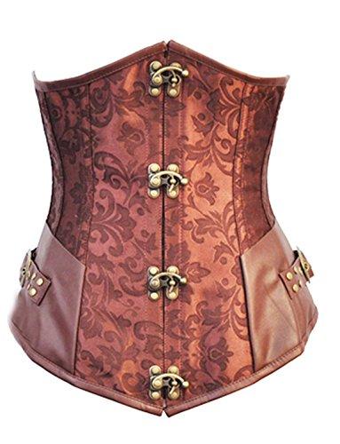 Korsett Steampunk Corsage braun Gothic Steampunk Corsage braun S-6XL (M) (Billig Korsett Kostüme)