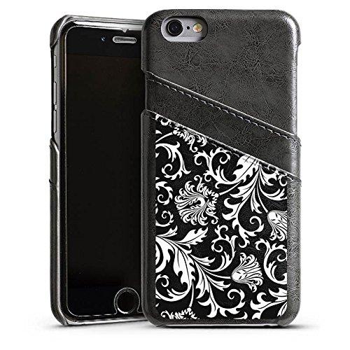 Apple iPhone 5 Housse Étui Silicone Coque Protection Ornements Mandala Motif Étui en cuir gris