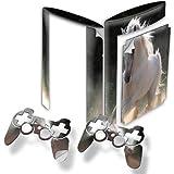 Pferd im Galopp, Designfolie Sticker Skin Aufkleber Schutzfolie mit Farbenfrohem Design für PlayStation 3 Super Slim