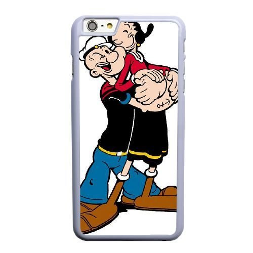 Design Phone Case,Popeye and Olive Oil Cell Phone Case for iPhone 6 6S 4.7 inch White + Tempered Glass Screen Protector (Free) GHL-5544836 (Olive Oil Von Popeye)