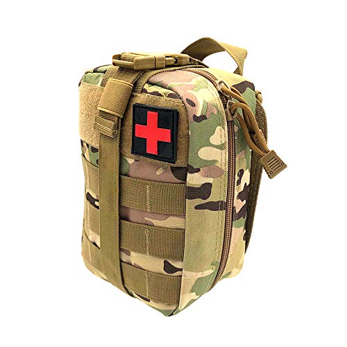 Lemonbest Tactical Molle Pouches, First Aid Bag Empty Large Outdoor Travel  Molle Rip-Away EMT For Medical Multipurpose Waist Pack Military Utility