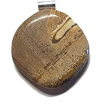 KRIO® - schöner Landschaftsjaspis/Picture Jaspis mit Silberöse preisvergleich bei billige-tabletten.eu