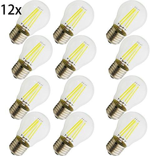 G45 ,E27 LED Neue Produkte, 4 W Lampe , vergleiche 35 W Glühlampe ,360 Lumen, AC 220 V, CooleWeiß G45 , Glühbirne Kristallklares Glas,12 Stück