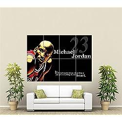 MICHAEL JORDAN SPORT de pelota de baloncesto LEGEND Póster de nuevo GIANT STAR ST437