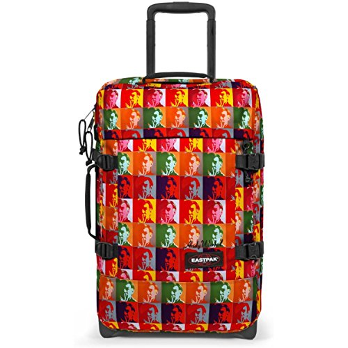 Eastpak - Equipaje de mano Rojo Andy Warhol Screens Check-in
