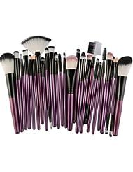Pinceaux Maquillage, Koly 25 Pcs Maquillage Outils Brush Set Maquillage Trousse De Toilette Laine Makeup brushes set (Violet)