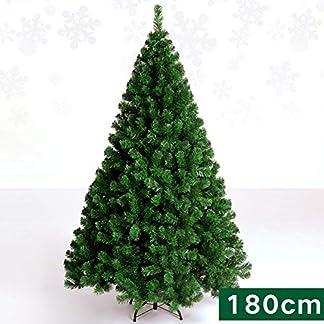 WZR Árbol De Navidad Artificial De Pino,180cm Plegable Soporte En Metal PVC Bisagras Árbol De Navidad Prevención De Fuego