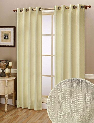 Thermo Gardine Ösen Vorhang mit Polar Fleece Rücken, matt, 245x140, Creme