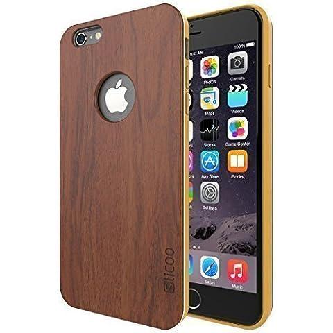 iPhone 6 funda de bambú, Slicoo™ Nature Series de Bambú Funda delgada cubierta para el iPhone 6