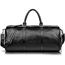 eb7b5cc415 Sac de voyage homme femme bandoulière en cuir sac de sport bagage ...