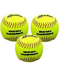 Baden sf12-bsuk Softball (3unidades), color amarillo
