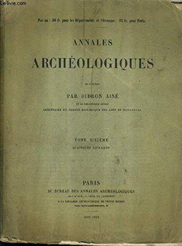 annales-archeologiques-tome-6-4e-livraison-peintures-murales-du-moyen-age-en-allemagne-et-hollande-la-construction-des-monuments-religieux-en-france-essai-sur-le-chant-ecclsiastique-manuel-du-numismatique-franaise-etc