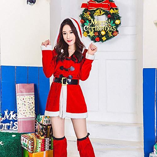 Yunfeng weihnachtsmann kostüm Damen Weihnachten Kostüm Erwachsene Weihnachten Bunny Girl Santa Sexy Kleidung cos Ball KTV Leistung Kostüm Kostüm Erwachsene Weihnachtsfeier Cosplay Kostüm (Sexy Santa Girl Kostüm)