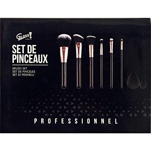 Gloss! Coffret Cadeau Beauté Kit de Pinceaux Maquillage Professionnel 8 Pièces