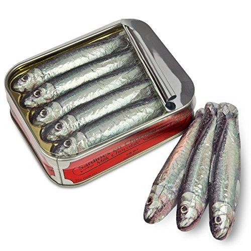 ChocoSardinen - in der Büchse - Fische aus Schokolade, Schokolade Geschenk, Schokoladenfische, Schokolade Fisch Figuren