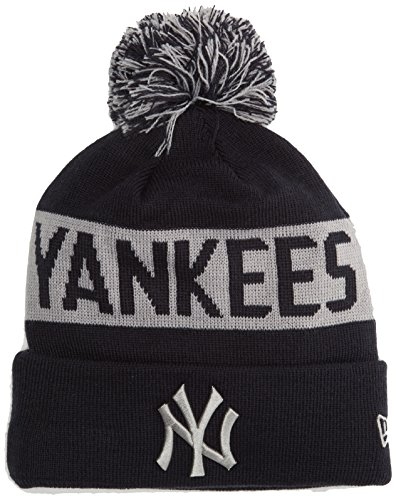 New Era York Yankees Bobble Knit Bonnet Homme, Bleu Marine, Taille Unique
