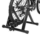 EBTOOLS Stahl Faltbarer Fahrrad Rollentrainer Indoor-Fahrrad-Trainer mit Widerstand auf 7 Stufen