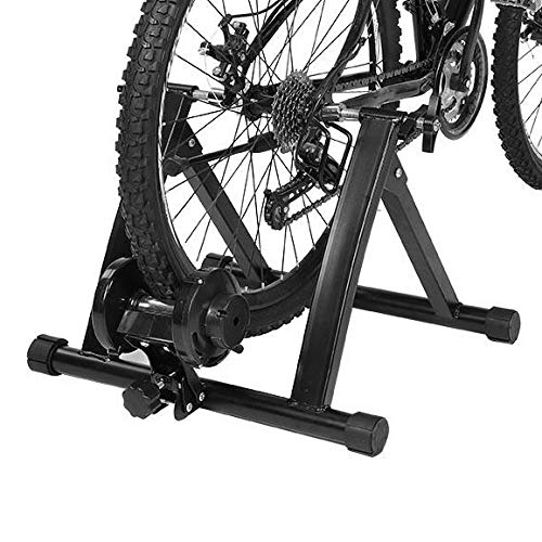 EBTOOLS Stahl Faltbarer Fahrrad Rollentrainer Indoor-Fahrrad-Trainer mit Widerstand auf 7 Stufen, 55 * 47 * 38,5 cm