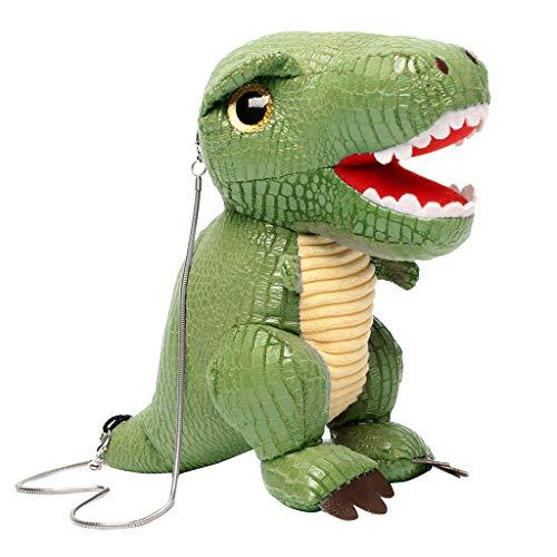 Committede Fashion 3D Dinosaurier Puppe Kind Kleine Geldbörse Schultertaschen Süße Handtaschen Umhängetasche Cartoon niedliche Tasche für Jungen und Mädchen -