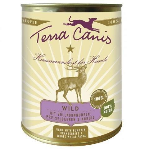 Terra Canis Classic Wild con Zucca, preiselbeeren e Pieno Grana Noodles, Confezione da (6X 800G)