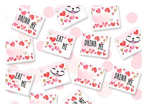 Coco & Bo Tischkonfetti Alice im Wunderland – Eat Me Drink Me Mad Hatters Teeparty-Dekorationen – Venue Friendly biologisch ()