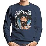 Sidney Maurer Original Portrait of Snoop Dogg Smoking Men's Sweatshirt