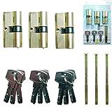 Serrure de sécurité avec clés identiques cylindres
