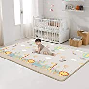 Foam Play Mat for Baby - Portable Double Sides Kids Crawling Mat, Non-slip and Waterproof, Extra Thick & S