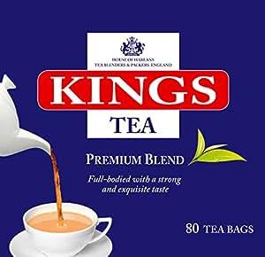 Kings Tea, Premium English Tea, 400 bustine di tè, 5 scatole di 80, 2 tazze di tè