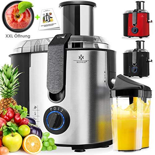 KESSER® Entsafter für Obst und Gemüse aus Edelstahl 1100W große 85 mm Einfüllöffnung inkl. Reinigungsbürste und…