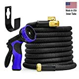 WORLD'S STRONGEST Expandable Garden Hose Set with MADE IN USA inner tube material & NEW DOUBLE M...