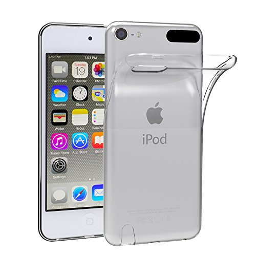 iVoler Hülle Case Kompatibel für Apple iPod Touch 7/6 / 5 (7, 6. und 5. Generation), Premium Transparent Klare Tasche Schutzhülle Weiche TPU Silikon Gel Handyhülle Schmaler Cover Ipod Case