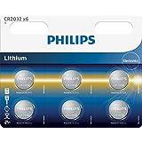 Philips Minicells Pila de botón CR2032P6/01B - Pilas (Litio, Botón/moneda, 3 V, 6 pieza(s), CR2032, 210 mAh)