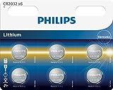 Philips minicells Knopfzelle-Batterien (Lithium, Button/Coin, CR2032, CD (Cadmium), Hg (Quecksilber), PB (Blei))