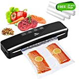 Vacuum Sealer, Uten 5 in 1 Food Sealer Automatic One-Touch Vacuum Sealing System