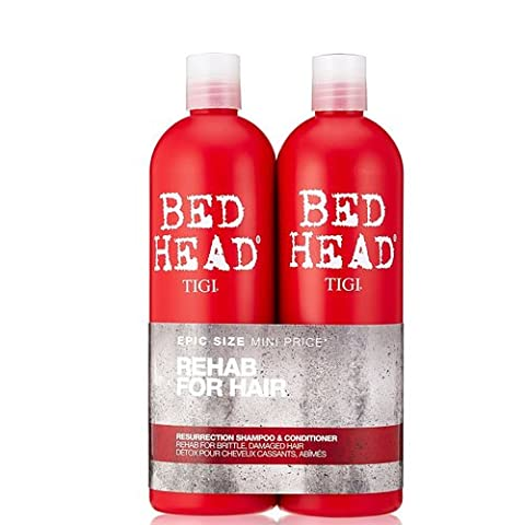 BED HEAD by TIGI Urban Antidotes Resurrection Tween Duo Shampoo & Conditioner for Very Dry, Hair -750 ml (Pack of