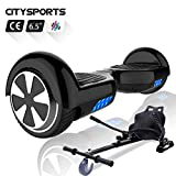 CITYSPORTS Hoverboard 6.5 Pollici, Balance Board Smart Scooter 2x350W con LED