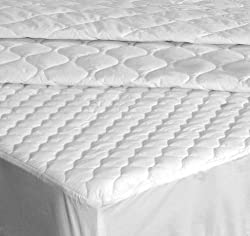 Down Etc Full 200 Thread Count Fitted Mattress Pad, White