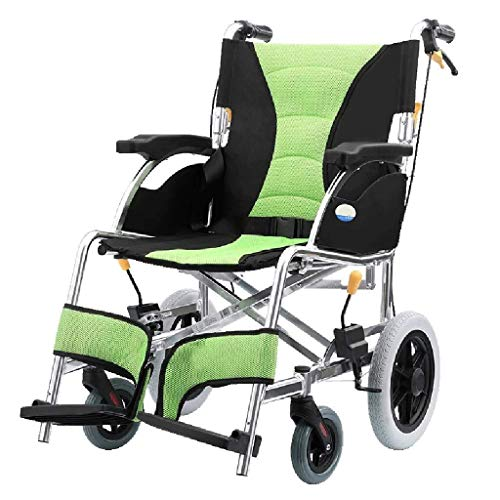Rollstühle Folding Lightweight-Transport-Stuhl-Faltbarer Aluminiumlegierungs-Rollstühle Folding Lightweight-Alter Wagen, Untauglicher Roller Tragbarer Transit-Reisestuhl -