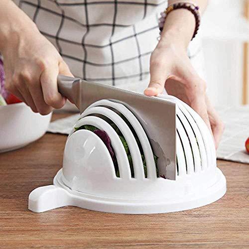 Salatschneider Schüssel Diy Gemüse Obst Slicer Chopper Waschmaschine und Cutter Quick Salad Maker Küchenhelfer Home Tools Gemüse