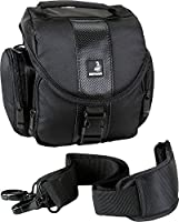 Vous serez satisfait après l'achat. Il s'agit d'un produit de qualité à un prix exceptionnel!   Vos principaux avantages:   L'espace:   Le sac pour appareils photo a un compartiment principal spacieux avec diviseur réglable pour l'adaptation à la tai...