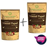 Green Canteen Almond Crackers with Spices 60gm Vegan and Gluten Free (No Preservatives, No Added Oil, Gluten Free) Pack of 2