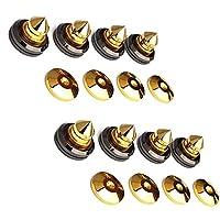 micity Solid cobre puro con 24K chapado en oro Altavoz Spike almohadillas zapatos pies de altavoz Pin uñas 8piezas