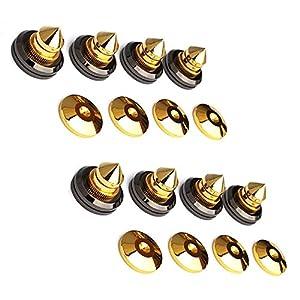 Micity solido in rame puro placcato oro 24K con speaker Spike Pad scarpe piedi set speaker pin nail 8pezzi