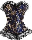 Lannister Corsage Donna Body Shaper Pizzo di Petto A Pieno Corsetto Abbigliamento Festivo Abbigliamento Festivo Steampunk Gothic Waist Workout Belly Away Body Shaping Top Lingerie Shapewear